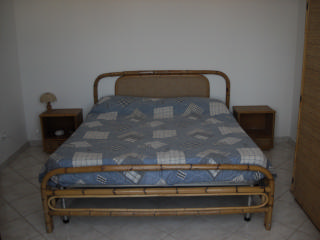 Bedroom or double bedroom, furnished.
