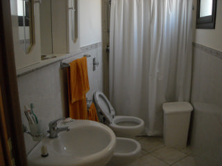 Two bathrooms, one on the ground floor and one on the first floor, with shower room.