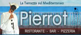 Restaurant Pizzeria Pierrot, the terrace overlooking on the Mediterranean