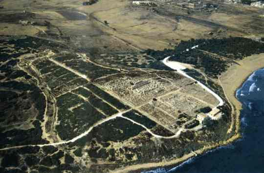Aerial photography of the Acropolis of Selinunte