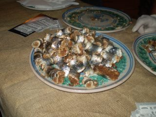 A typical dish made of sardines, sardine rolls of Selinunte